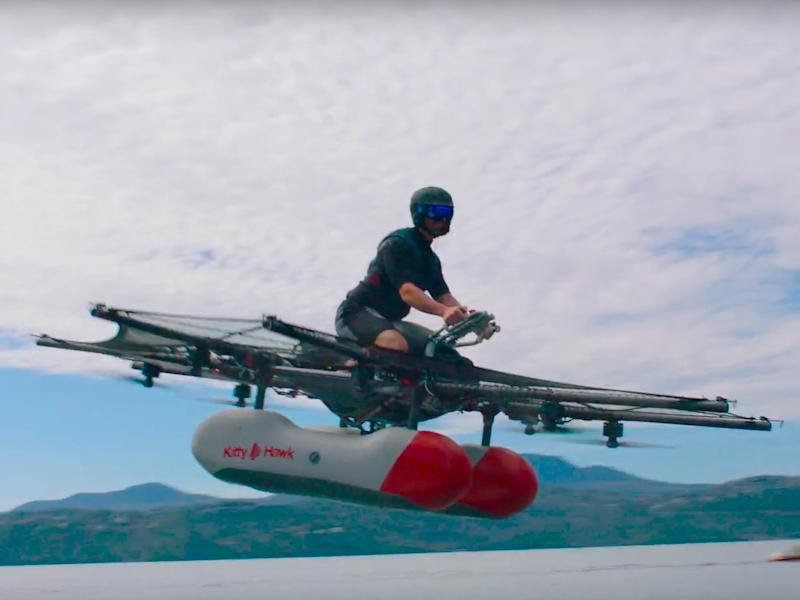 Larry 'Google' Page has shown off his flying vehicle