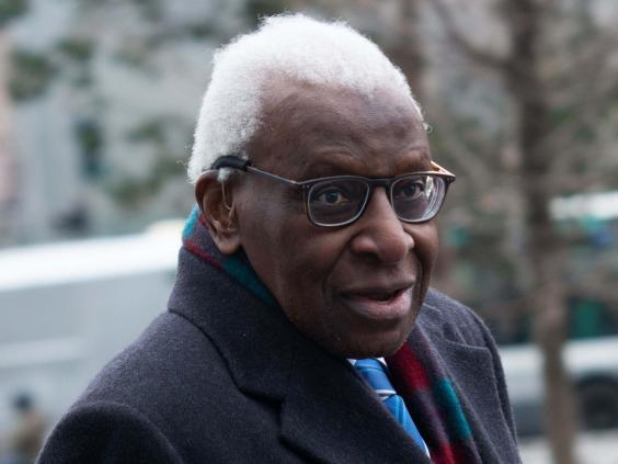 Lamine Diack has denied any wronging and allegations of bribery (Getty)