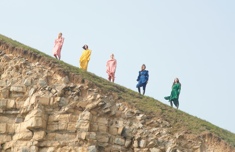 Extinction Rebellion activists and models in Stella McCartney's Fall 2019 campaign.