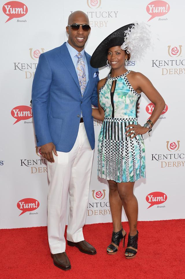 LOUISVILLE, KY - MAY 03: NBA player Chauncey Billups (L) and Piper Billups attend 140th Kentucky Derby at Churchill Downs on May 3, 2014 in Louisville, Kentucky. (Photo by Mike Coppola/Getty Images)