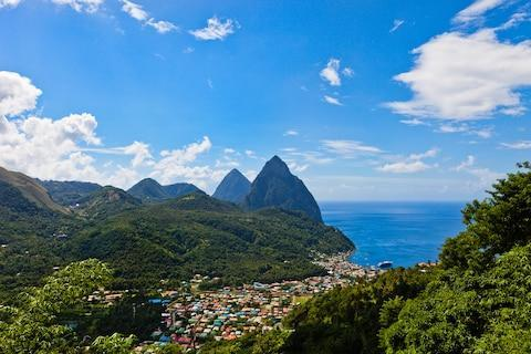 <span>A view over Soufrière </span> <span>Credit: istock </span>
