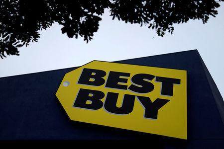 FILE PHOTO: A Best Buy store is seen in Los Angeles, California, U.S., March 13, 2017. REUTERS/Lucy Nicholson/File Photo