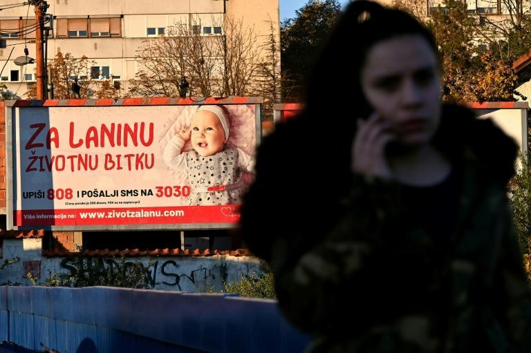 Billboards showing children's faces have become a common sight in Serbia as a way of raising funds for overseas medical treatment