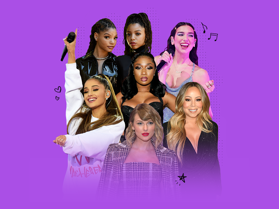 Dua Lipa, Ariana Grande, Taylor Swift, Chloe x Halle, Mariah Carey and Megan Thee Stallion are some of the women in music who brought joy to 2020.