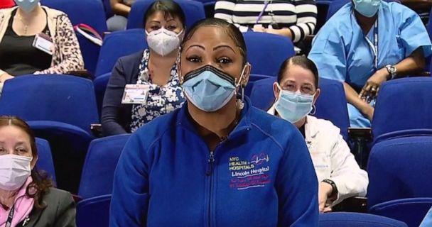 PHOTO: Head Nurse at Lincoln Hospital in the Bronx Eva Calo opens up about being on the frontlines of the coronavirus pandemic on 'The View' Friday, May 8, 2020. (ABC)