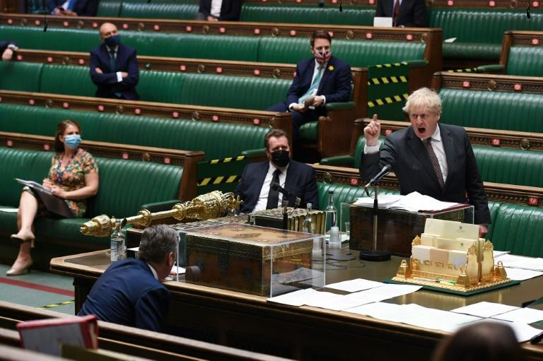 Johnson is under pressure in parliament from the opposition Labour party