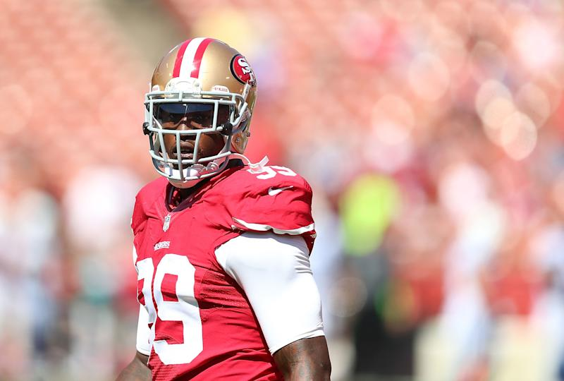 Aldon Smith, pictured here on September 22, 2013 in San Francisco, could face an NFL suspension in connection with his latest legal woes