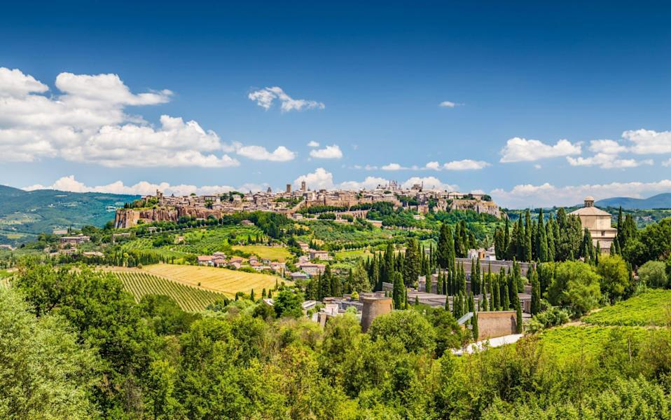 A path well-trodden: the Etruscan sites and medieval towns of Umbria were familiar to Garibaldi and his men - Getty