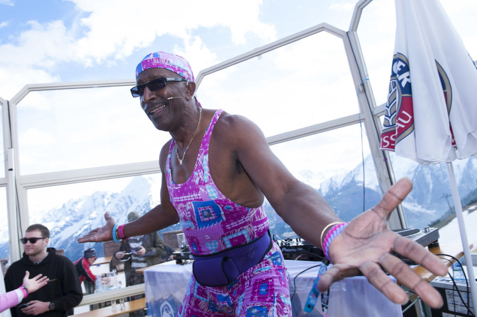Mr Motivator on day 5 of Snowbombing Festival in Mayrhoffen, Austria