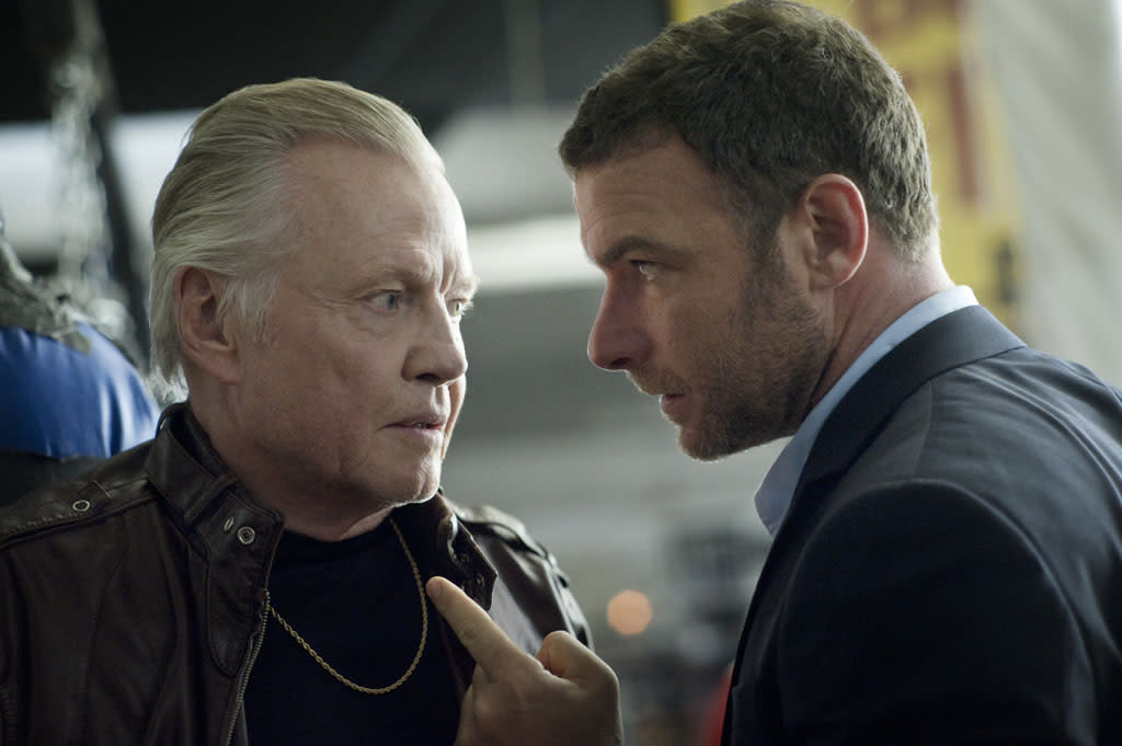 "Jon Voight as Mickey Donovan and Liev Schreiber as Ray Donovan in the series premiere of Showtime's ""Ray Donovan."""