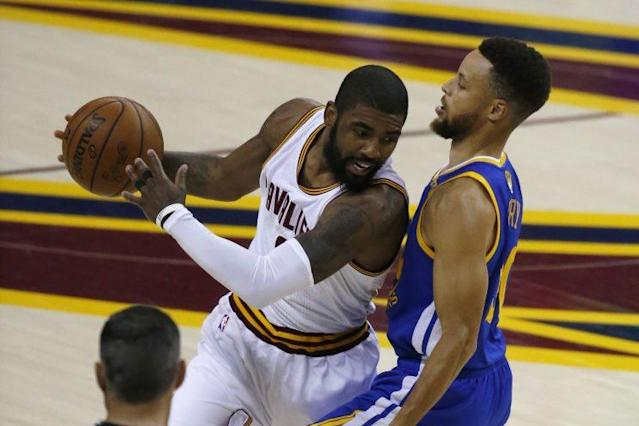 "<a class=""link rapid-noclick-resp"" href=""/nba/players/4840/"" data-ylk=""slk:Kyrie Irving"">Kyrie Irving</a> and the <a class=""link rapid-noclick-resp"" href=""/nba/teams/cle/"" data-ylk=""slk:Cleveland Cavaliers"">Cleveland Cavaliers</a> looked tired to end Game 3. (AP)"