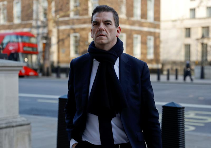 Olly Robbins, senior civil servant and Europe adviser to Prime Minister Theresa May, arrives at the Cabinet Office, in London, Britain January 28, 2019. REUTERS/Peter Nicholls