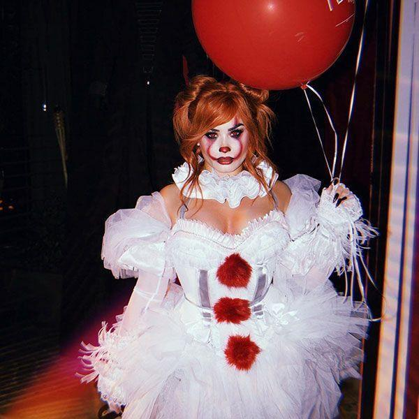 "<p>We have to say that Demi Lovato makes a great (and terrifying) Pennywise from the movie <em><a href=""https://www.amazon.com/Jaeden-Lieberher/dp/B0756VMDV5?tag=syn-yahoo-20&ascsubtag=%5Bartid%7C10055.g.23653854%5Bsrc%7Cyahoo-us"" rel=""nofollow noopener"" target=""_blank"" data-ylk=""slk:It"" class=""link rapid-noclick-resp"">It</a></em>. Don't forget the red balloon, of course!</p>"