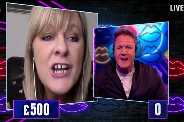 Gordon Ramsay played 'Read My Lips' on this week's episode of 'Saturday Night Takeaway'. (Credit: ITV)