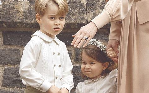 Prince George of Cambridge and Princess Charlotte of Cambridge attend the wedding of Pippa Middleton and James Matthews  - Credit: Max Mumby/Getty