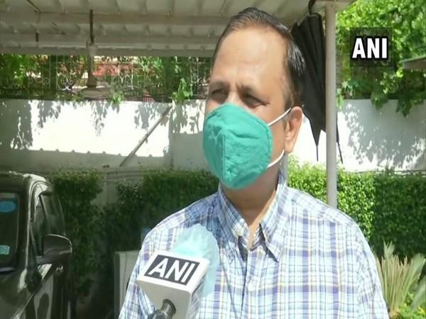 Delhi Health Minister Satyendar Jain speaking to ANI on Saturday (ANI)