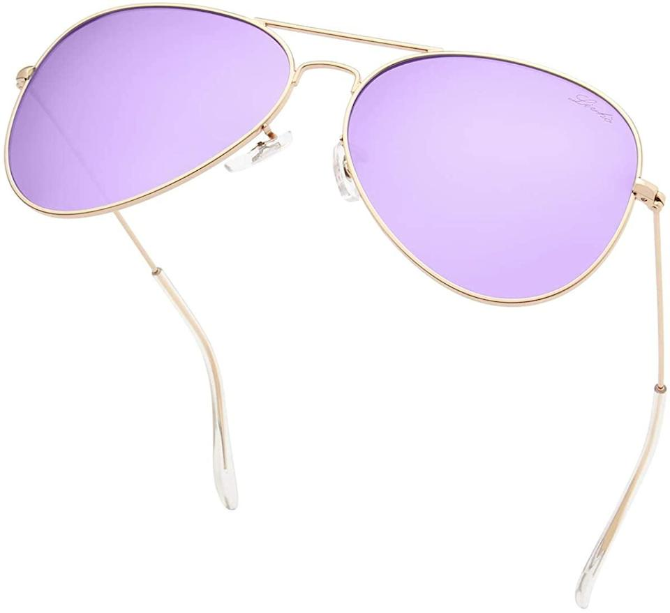 <p>Embrace the lavender trend with these <span>livho Classic Polarized Aviator Sunglasses</span> ($13).</p>