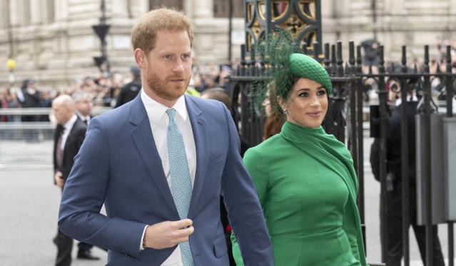 Harry and Meghan's security reportedly costs £7,000 a day. (Getty Images)