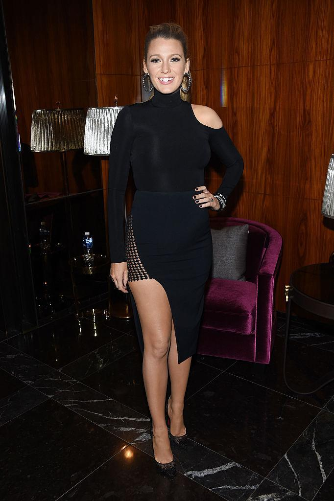 <p>Blake stuns in all black at 'The Shallows' world premiere after party in New York City.<br><i>[Photo: Getty]</i> </p>