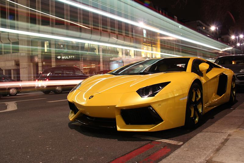 K Lamborghini Aventador Crashed Into A Supercar Showroom During A