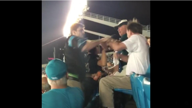 Fight at Panthers game. (Via screen shot)