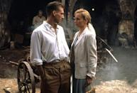 """<p>With competition like """"Fargo"""" and """"Jerry Maguire,"""" Anthony Minghella's romantic drama wasn't necessarily a sure thing at the 1997 Oscars. It went on to win nine statues, including Best Picture, Best Director, and Best Supporting Actress for Juliette Binoche. (Photo: Rex) </p>"""