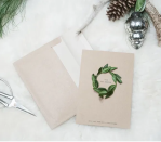 """<p>Simple and stately, this card features a sweet green wreath that can be made in a matter of minutes. The typewritten font and kraft paper background add to the sophisticated vibe. </p><p><strong>Get the tutorial at <a href=""""http://www.earnesthomeco.com/tis-the-season-for-diy-christmas-cards/"""" rel=""""nofollow noopener"""" target=""""_blank"""" data-ylk=""""slk:Earnest Home Co"""" class=""""link rapid-noclick-resp"""">Earnest Home Co</a>.</strong></p><p><strong><strong><a class=""""link rapid-noclick-resp"""" href=""""https://go.redirectingat.com?id=74968X1596630&url=https%3A%2F%2Fwww.etsy.com%2Flisting%2F156794484%2Fa4-envelopes-kraft-or-brown-perfect-for&sref=https%3A%2F%2Fwww.countryliving.com%2Fdiy-crafts%2Fhow-to%2Fg3872%2Fchristmas-card-ideas%2F"""" rel=""""nofollow noopener"""" target=""""_blank"""" data-ylk=""""slk:SHOP KRAFT PAPER CARDS"""">SHOP KRAFT PAPER CARDS</a></strong></strong></p>"""