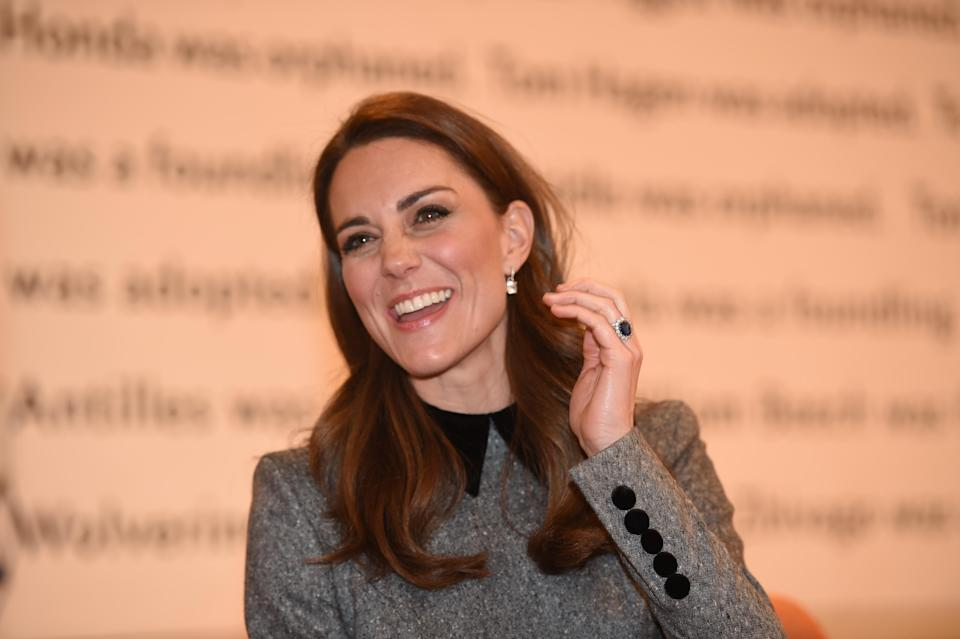 The Duchess of Cambridge at The Foundling Museum last week [Photo: Getty]