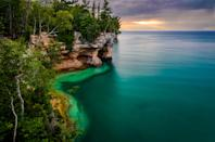 <p><strong>Best camping in Michigan:</strong> Twelvemile Beach Campground, Pictured Rocks National Lakeshore</p> <p>Few campgrounds at Pictured Rocks come with a lake view, which makes Twelvemile Beach all the more desirable. Pitch a tent among stands of white birch and gaze out at the deep blue vastness of Lake Superior. And don't miss kayaking around the park's namesake rock formations—rentals and tours are available in nearby Munising.</p>