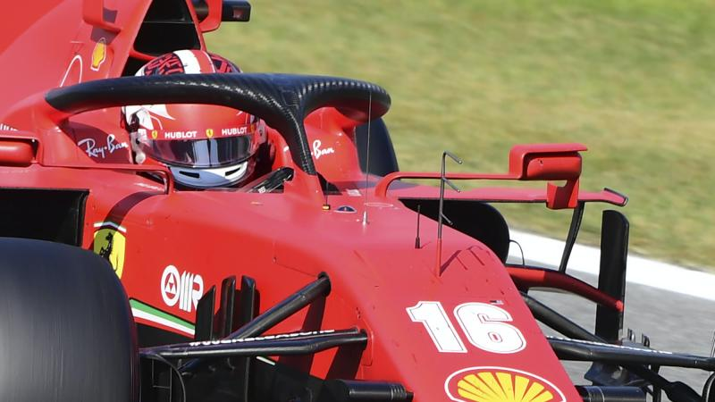 Italian GP halted as Charles Leclerc involved in crash