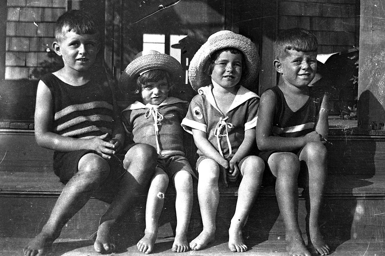 <p>Joseph Kennedy Jr., Kathleen Kennedy, Rosemary Kennedy and John F. Kennedy, left to right, in 1922 in Cohasset, Mass. (Photo: John F. Kennedy Presidential Library and Museum) </p>