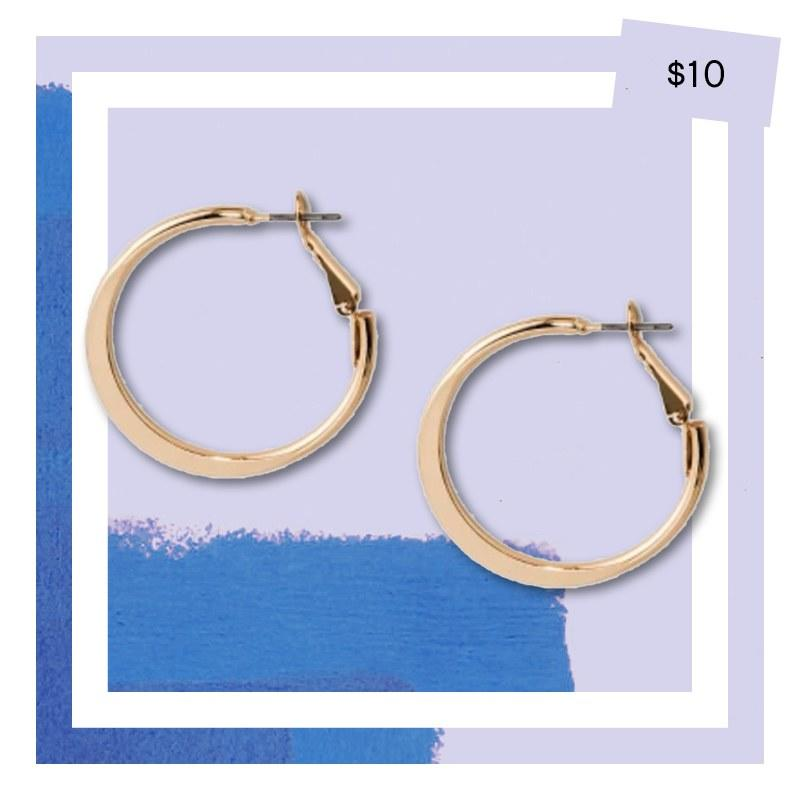 A New Day Flat Hoops, $10, target.com