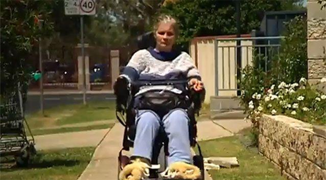 Ms Samios has been quadriplegic for 13 years. Image: 7 News