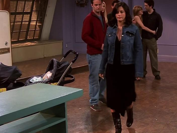 """Courteney Cox was pregnant in real life when she filmed the """"Friends"""" finale."""