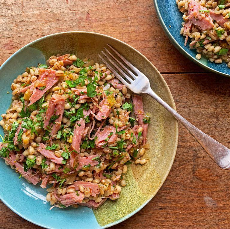 """<p>We love <a href=""""https://www.delish.com/uk/cooking/recipes/g30242114/risotto-recipe/"""" rel=""""nofollow noopener"""" target=""""_blank"""" data-ylk=""""slk:risotto"""" class=""""link rapid-noclick-resp"""">risotto</a>, and this pearl barley version is delicious. Pearl barley is a type of grain that's an excellent alternative to <a href=""""https://www.delish.com/uk/cooking/recipes/a30413128/how-to-make-fried-rice/"""" rel=""""nofollow noopener"""" target=""""_blank"""" data-ylk=""""slk:rice"""" class=""""link rapid-noclick-resp"""">rice</a> in a risotto. Barley is used in bread to add earthy flavours, and in the same way, pearl barley adds a nice nutty, earthy tone to a creamy risotto.</p><p>Get the <a href=""""https://www.delish.com/uk/cooking/recipes/a32048443/pearl-barley-risotto/"""" rel=""""nofollow noopener"""" target=""""_blank"""" data-ylk=""""slk:Pearl Barley Risotto"""" class=""""link rapid-noclick-resp"""">Pearl Barley Risotto</a> recipe.</p>"""