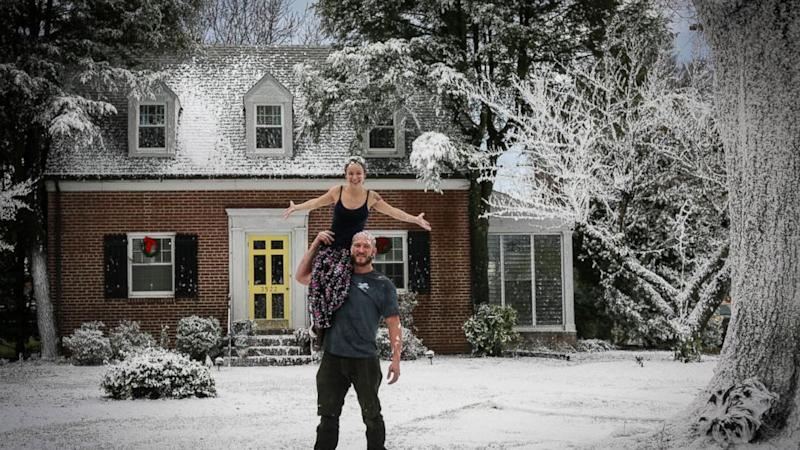 Virginia Man Surprises Wife With a White Christmas in Record-Breaking Heat