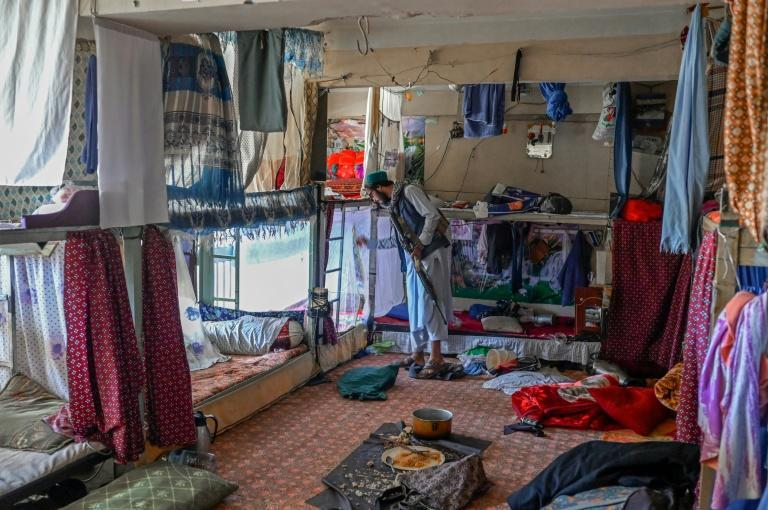 Cramped dormitories housed 15 to 20 prisoners in bunks (AFP/BULENT KILIC)