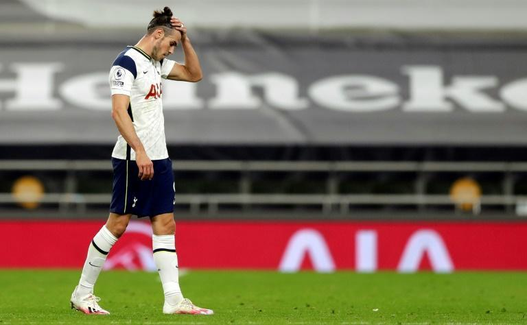 Tottenham's Gareth Bale reacts after the draw with West Ham