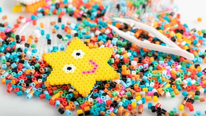 Make a star or a sunshine or a cheetah with these beads.