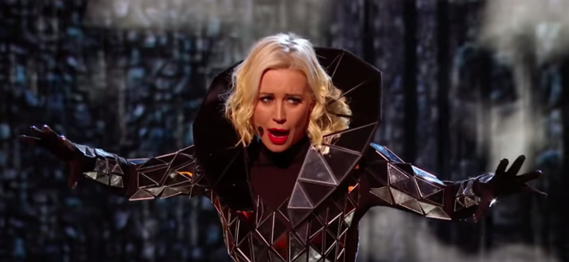 Denise van Outen was Fox on The Masked Singer. (ITV)