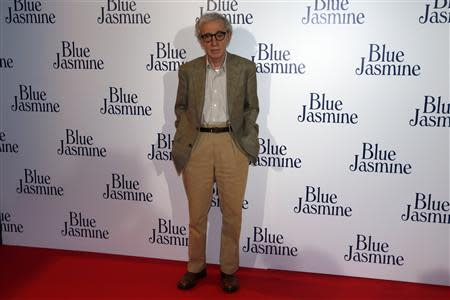 """File photo of director Woody Allen during the premiere of his film """"Blue Jasmine"""" in Paris"""
