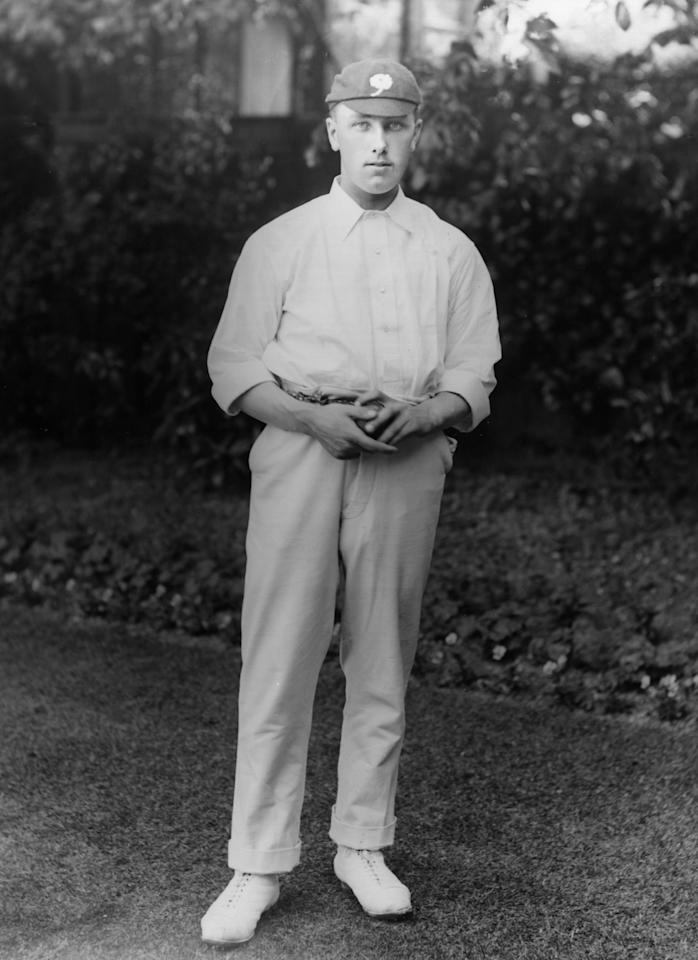 England (1899 - 1929) and Yorkshire cricketer, Wilfred Rhodes (1877 - 1973).  Original Publication: People Disc - HK0136   (Photo by Topical Press Agency/Getty Images)