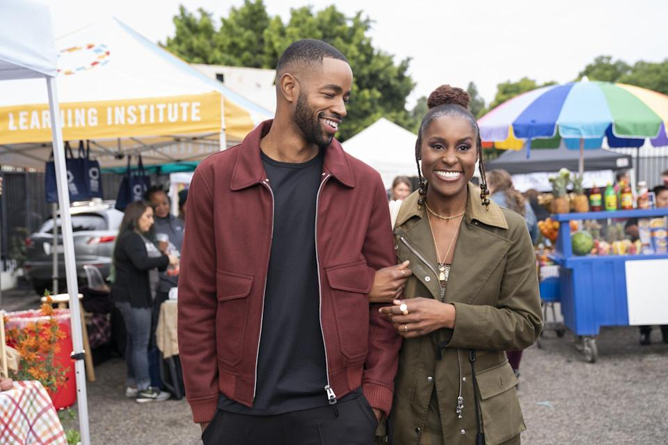 Jay Ellis and Issa Rae in the HBO series <em>Insecure</em>. (Photo: Merie W. Wallace/HBO)