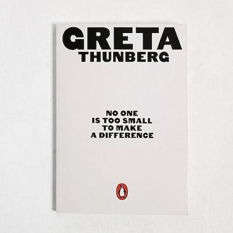 No One Is Too Small to Make a Difference By Greta Thunberg ​ - Credit: Urban Outfitters