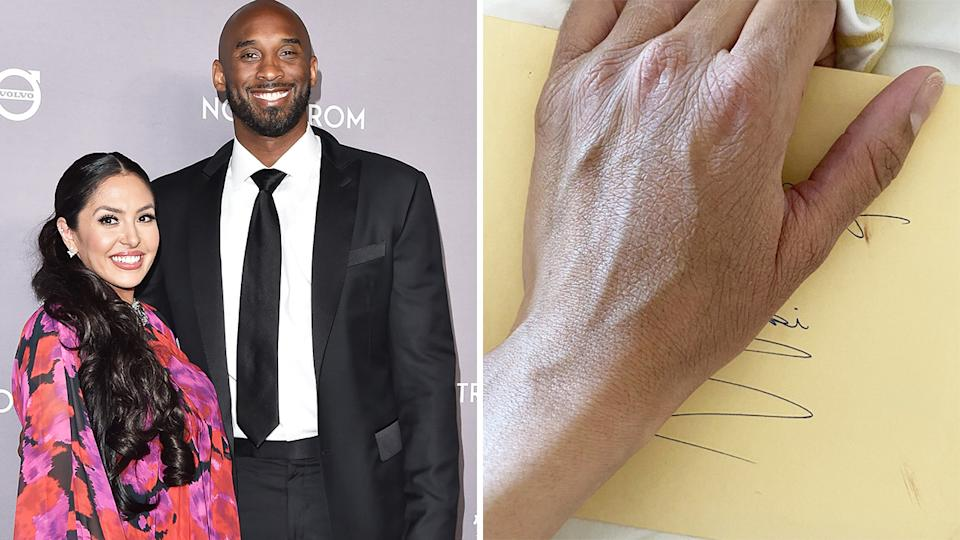 Vanessa Bryant has revealed her discovery of an unopened letter from her late husband Kobe, which she opened on her birthday this week. Pictures: Getty Images/Instagram/vanessabryant