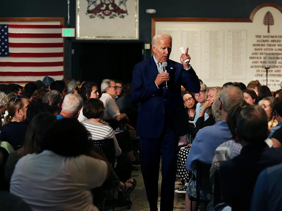 Joe Biden in New Hampshire