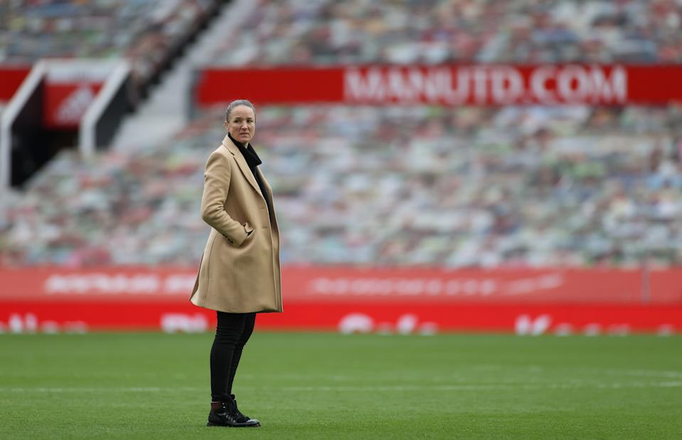 Manchester United manager Casey Stoney believes the  ground-breaking TV deal for women's football could provide a significant boost to the popularity of the sport © Action Images via Reuters