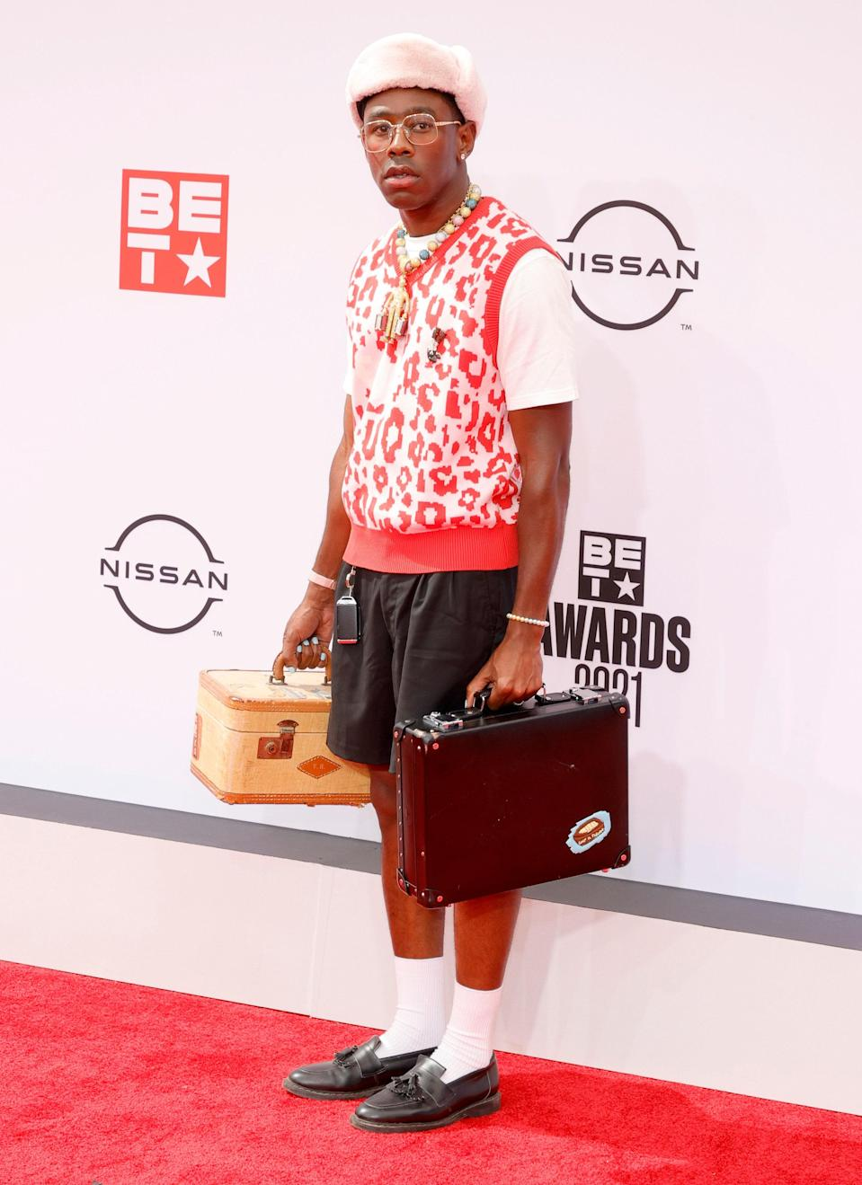 In his now trademark style, Tyler, the Creator had his bags packed and was ready to take a trip back to the 1950s.