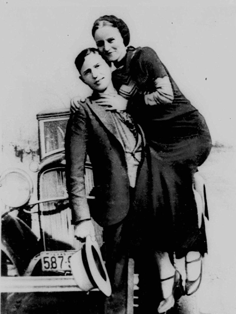 1930s bank robbers Clyde Barrow and Bonnie Parker.