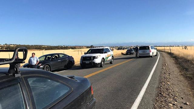 <p>Traffic backs up outside Rancho Tehama, California, after multiple people were killed in a shooting on Nov. 14, 2017. (AP) </p>